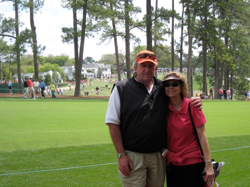 Pete and wife at Masters