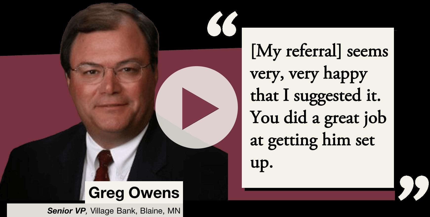 Greg Owens Referral Website